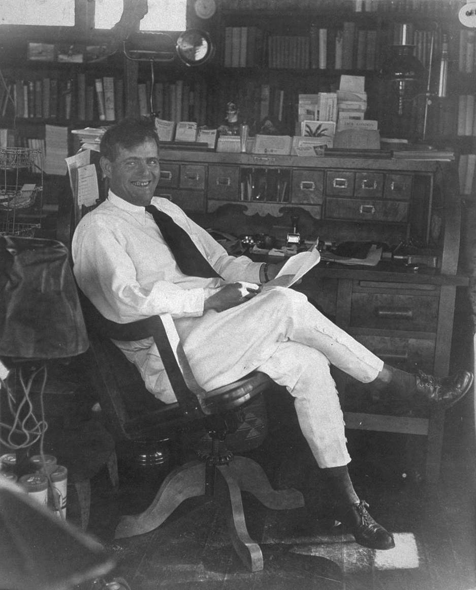 Jack London in his office.